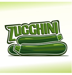 logo for zucchini vector image