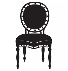 Modern neoclassic chair vector