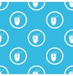 Mouse controller sign blue pattern vector image