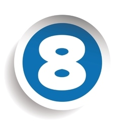 Number eight sticker blue vector