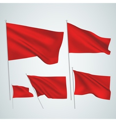 Red flags vector image vector image