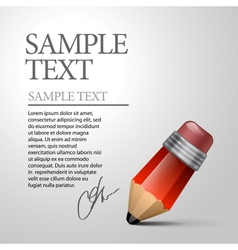red pencils vector image