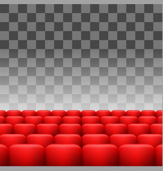 red seats set vector image vector image