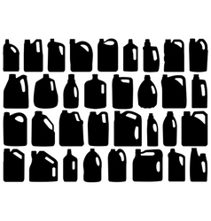 Set of different canisters vector