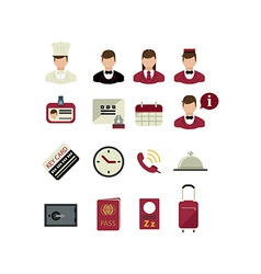 Set of hotel icons vector