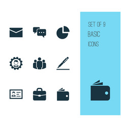Trade icons set collection of envelope leader vector