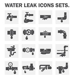 water leak vector image