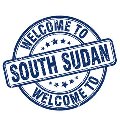 Welcome to south sudan vector