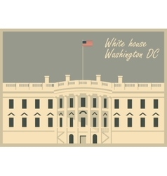 white house washington dc vector image vector image