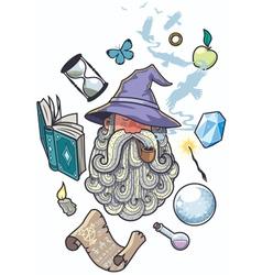 Wizard Portrait vector image vector image
