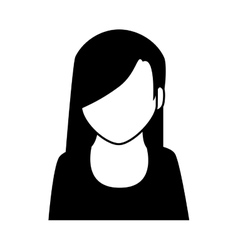 Woman girl female hair person face vector