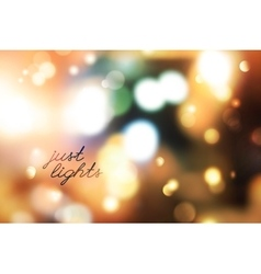 blurred lights background vector image