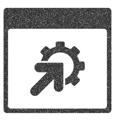 Gear integration calendar page grainy texture icon vector
