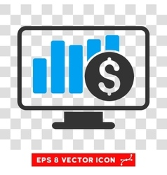Stock market monitoring eps icon vector