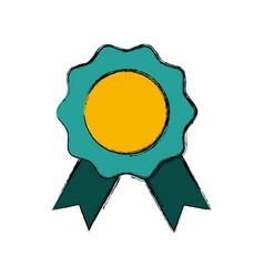 Medal award symbol vector