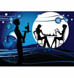 Evening restaurant vector