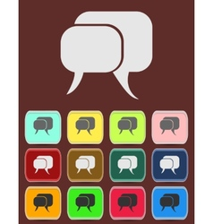 Flat icon of a communication - dialogue vector