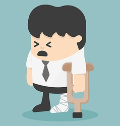 Businessman in injured bandages vector