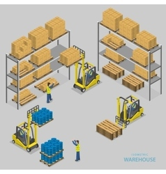 Warehouse loading isometric vector