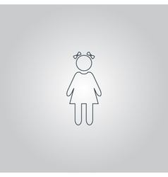 Girl with bows vector