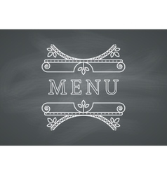 Restaurant menu headline with chalkboard vector
