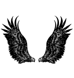Eagle wing vector