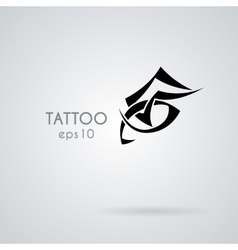 Eye icon in the style of tattoos vector