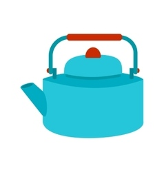 Old style kettle vector