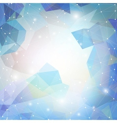 Abstract blue background triangle design vector image
