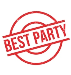 Best Party rubber stamp vector image vector image