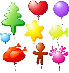 christmas balloons - speech bubble vector image vector image