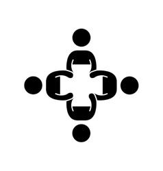 Community meeting people vector