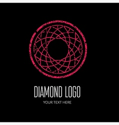 Diamond grunge logo 4 vector