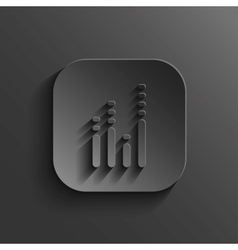 Equalizer icon - black app button vector image vector image