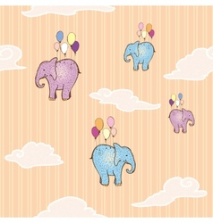Flying elephant vector