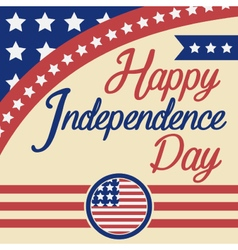 Happy independence day celebration greeting card vector