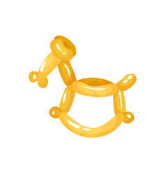 Horse animal figurine twisting of glossy yellow vector
