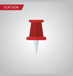 Isolated pin flat icon pushpin element can vector
