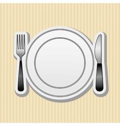 kitchen utensils design vector image vector image