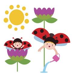 Ladybug babies vector image vector image