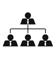 leadership icon simple style vector image