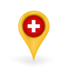 Location Switzerland vector image vector image