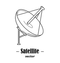 Logotype for satelite vector