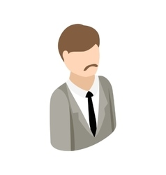 Man in a suit icon isometric 3d style vector