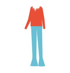 Men casual clothes icon vector