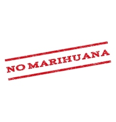 No marihuana watermark stamp vector