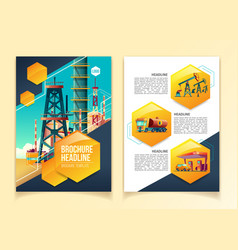 oil industry brochure template vector image