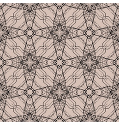 Pattern with decorative shapes in organic brown vector