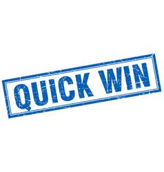 Quick win square stamp vector