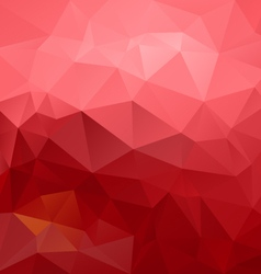 Red pink gradient abstract polygon triangular vector